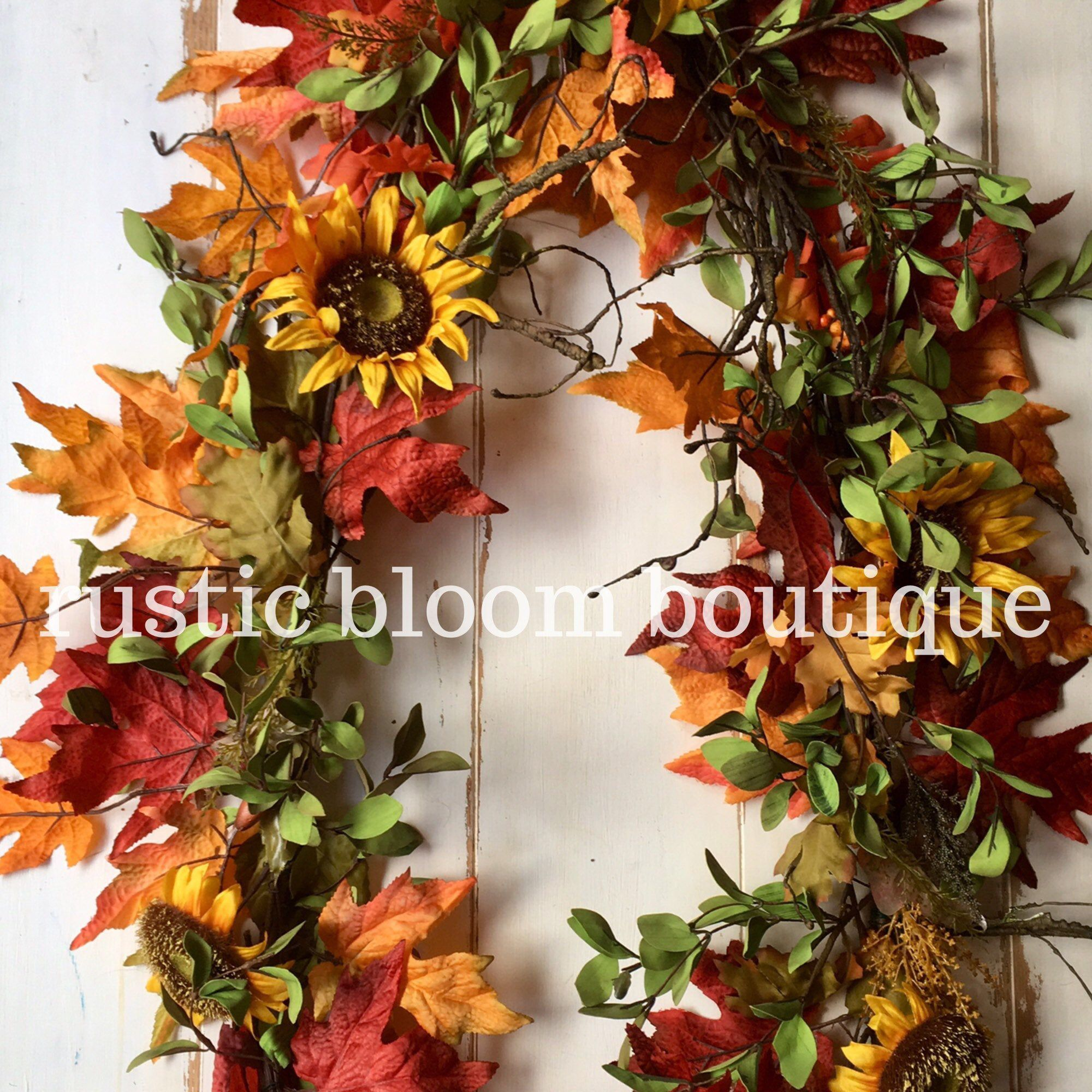 Fall farmhouse garland; fall mantle decor; autumn leaves garland; fall farmhouse wedding decor; sunflower garland; french country decor #fallmantledecor Excited to share this item from my #etsy shop: Fall farmhouse garland; fall mantle decor; autumn leaves garland; fall farmhouse wedding decor; sunflower garland; french country decor #fallmantledecor Fall farmhouse garland; fall mantle decor; autumn leaves garland; fall farmhouse wedding decor; sunflower garland; french country decor #fallmantle #fallmantledecor
