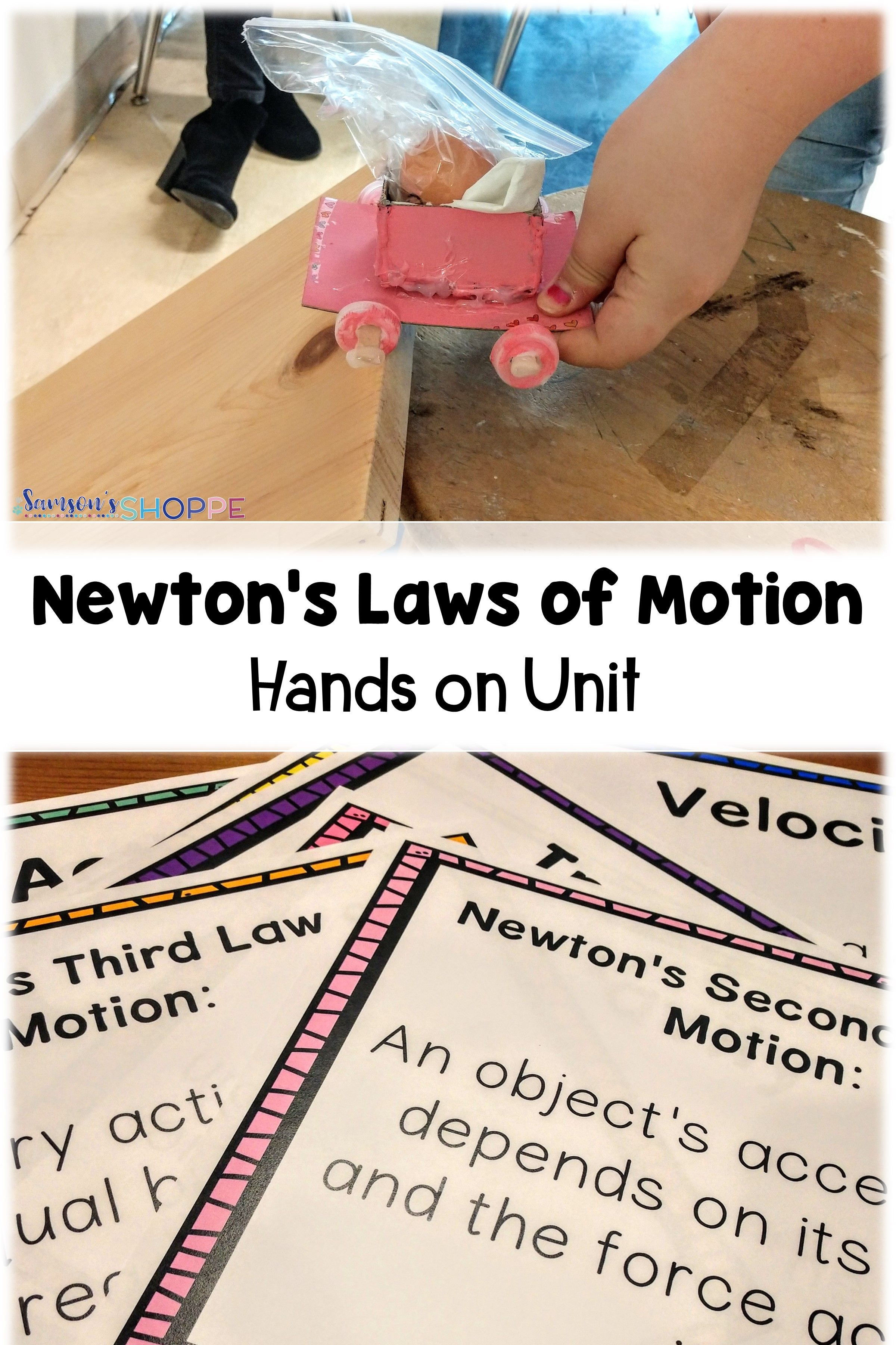 Newton S Laws Of Motion Demonstrations Posters Stem And