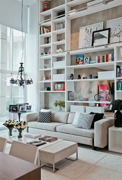 stauraum ideen im wohnzimmer 30 pfiffige einrichtungen wohnzimmer pinterest regal. Black Bedroom Furniture Sets. Home Design Ideas