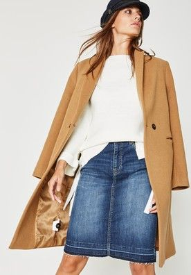 Manteau peignoir femme camel