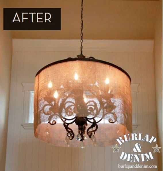How To Turn A Hula Hoop Into A Barrel Shade Diy Chandelier