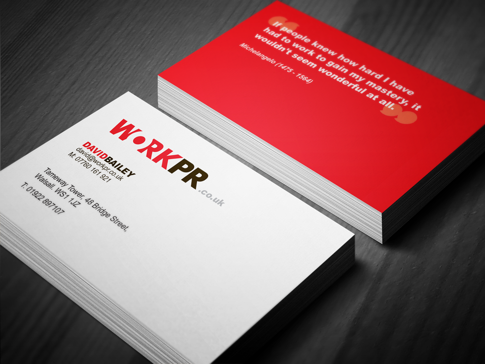 Identity Design: Work Public Relations Business Card Design #TDV ...