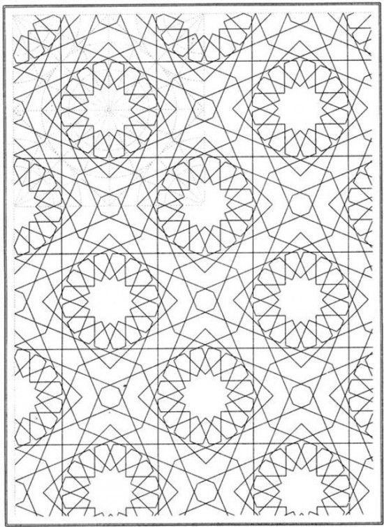 Printable Mosaic Patterns Coloring Pages for Kids and for Adults