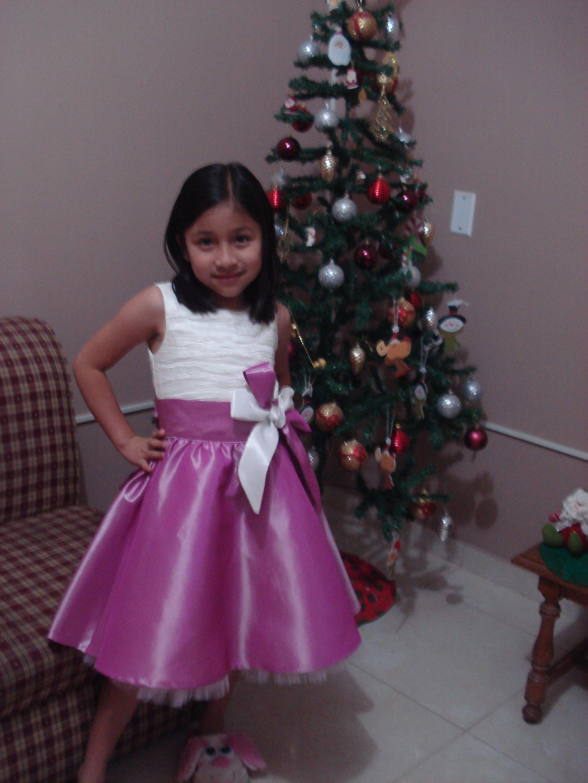 Vestido de Promocion en tafeta blanca y rosado chicle. | Vestidos ...
