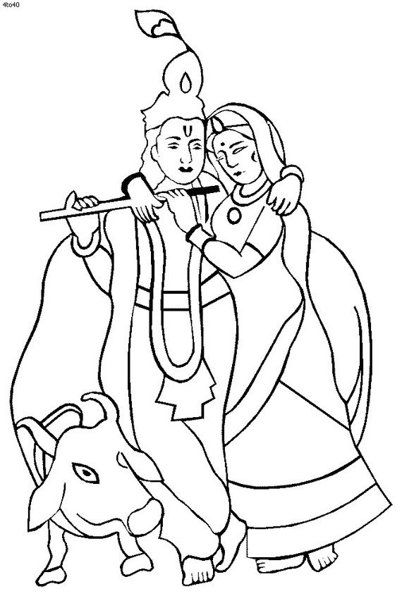 Shri Krishna Janmashtami Coloring Printable Pages For Coloring Pages Of Krishna