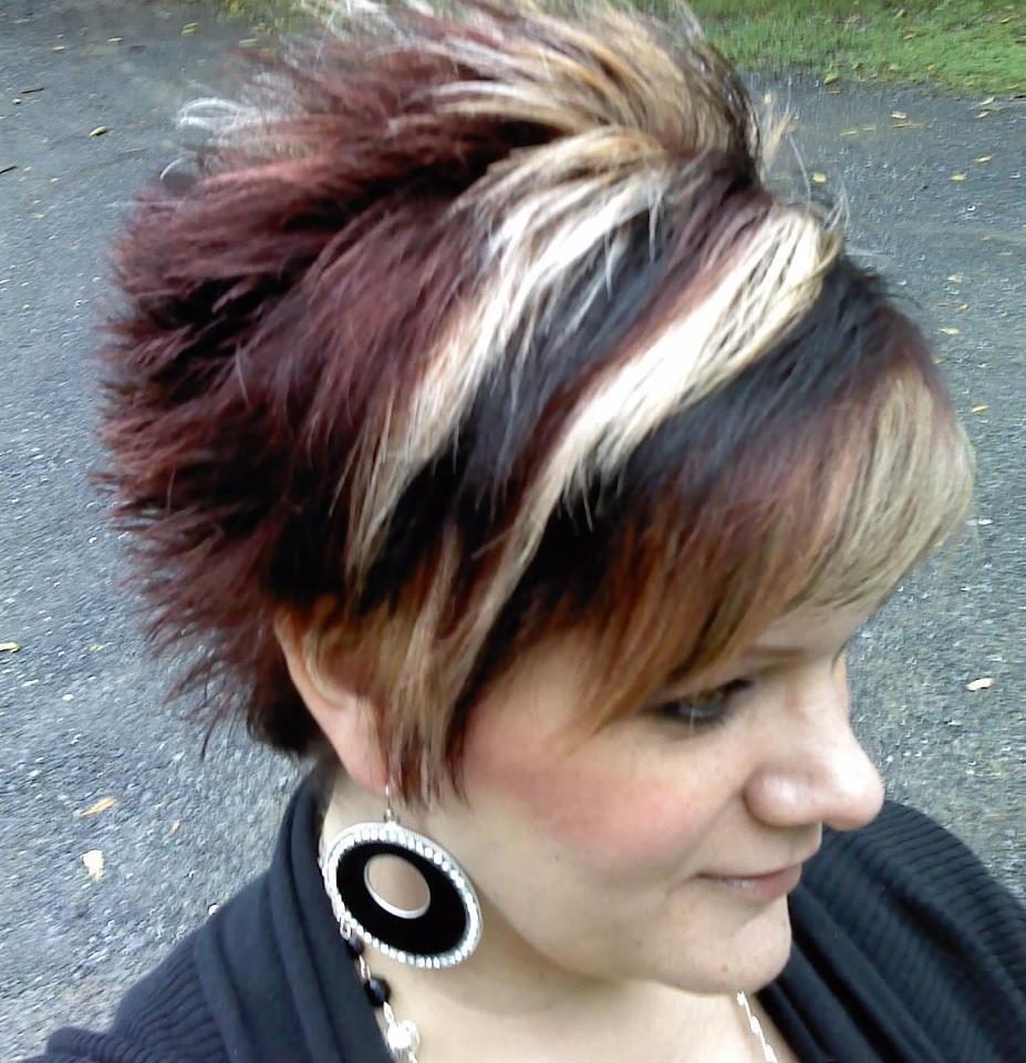 Multitonal hair color fun short hairstyle pinterest hair