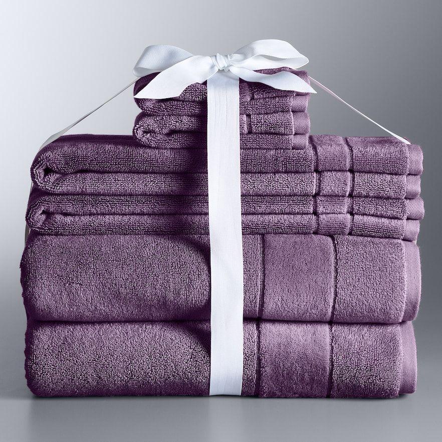 Vera Wang Simply Vera 6 Piece Turkish Cotton Bath Towel Set