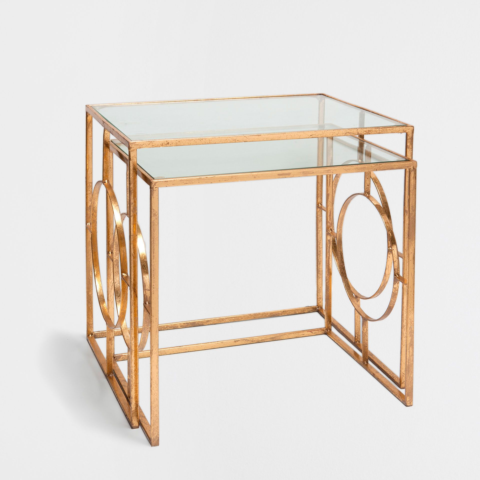 Geometric Side Tables Set Of 2 Occasional Furniture Bedroom  # Meuble Tv Zara Home