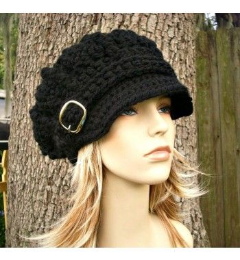 I really want a crochet hat like this. It makes me want to learn how ...