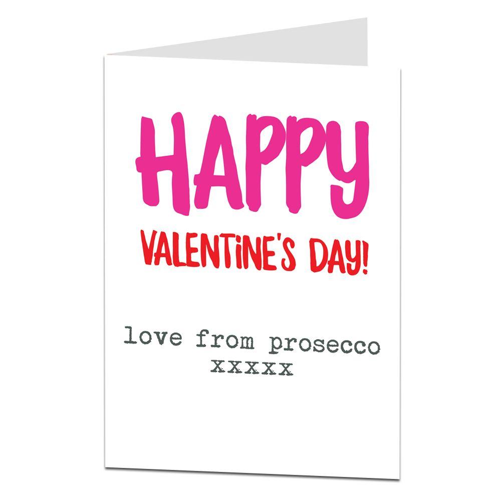 Alternative Valentine's Card Love from Prosecco in 2020