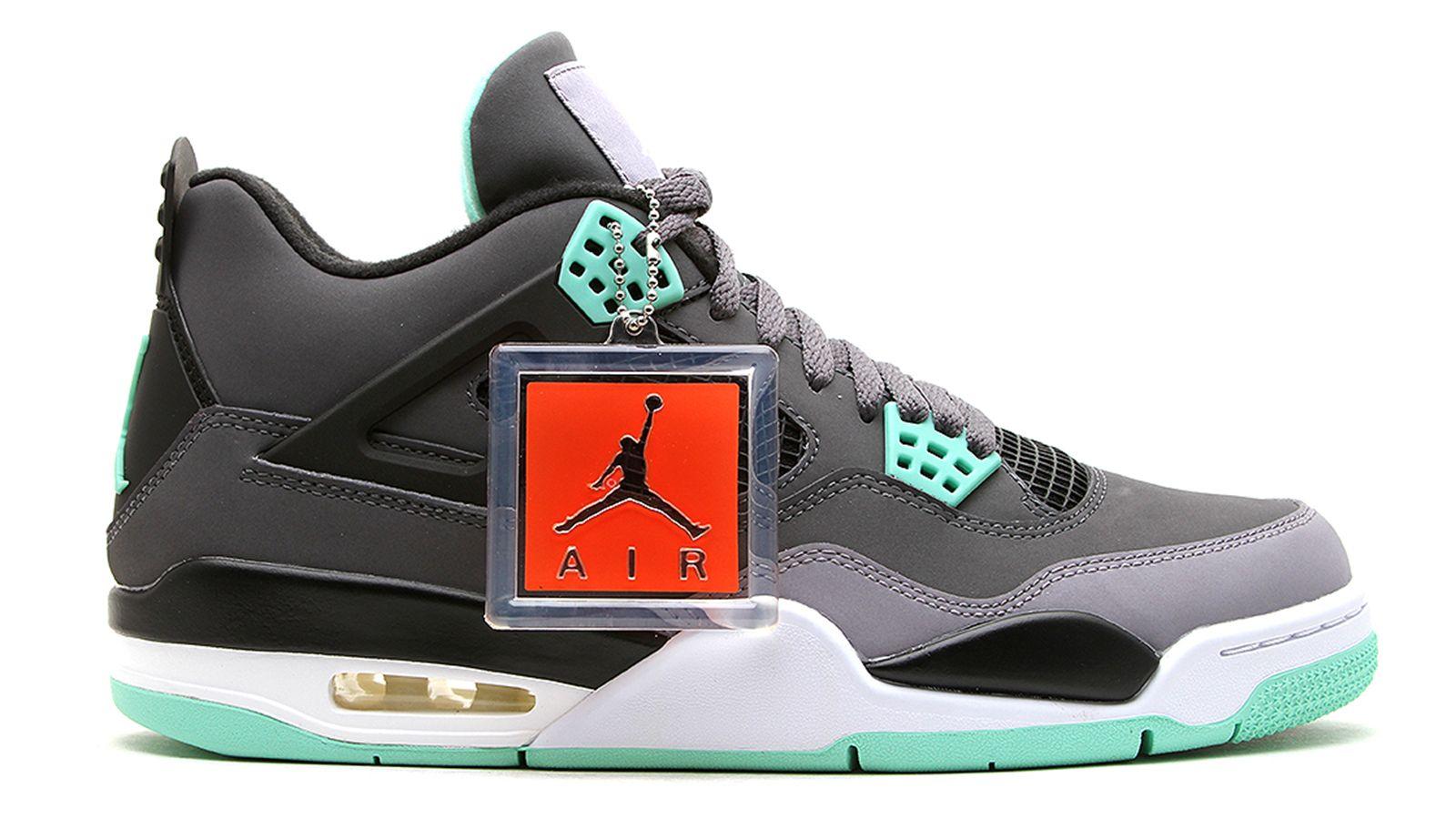 "Air Jordan 4 Retro ""Green Glow"" Jordan shoes retro"