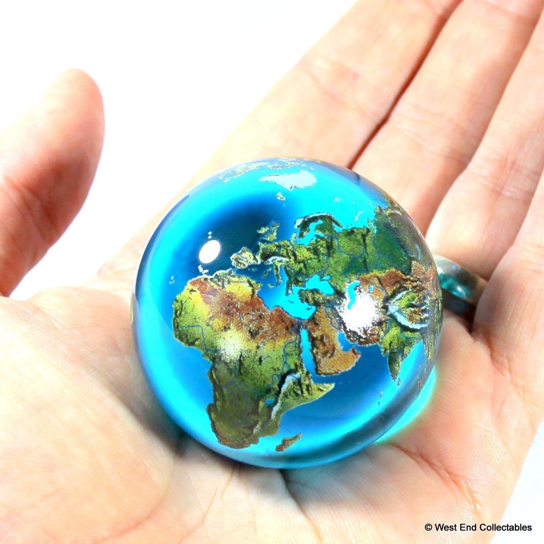 Details About Massive 50mm 2 Aqua Crystal Planet Earth