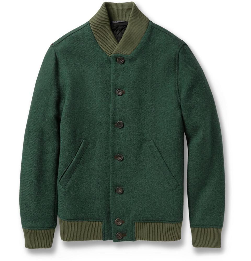 Richard James Quilted Harris Tweed Bomber Jacket | mens baseball ...
