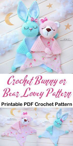 Make an Adorable Bunny or Bear Baby Lovey