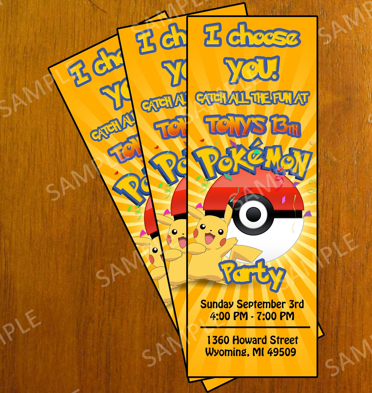 Free Printable Pokemon Invitation Cards Pokemon Invitations Pokemon Birthday Pokemon Party Invitations