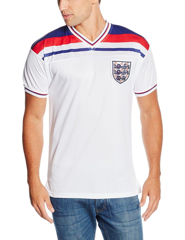 Score Draw Men S England 1982 World Cup Final Shirt Amazon Co Uk Sports Outdoors Retro Football Shirts Sport Outfits England Football Team