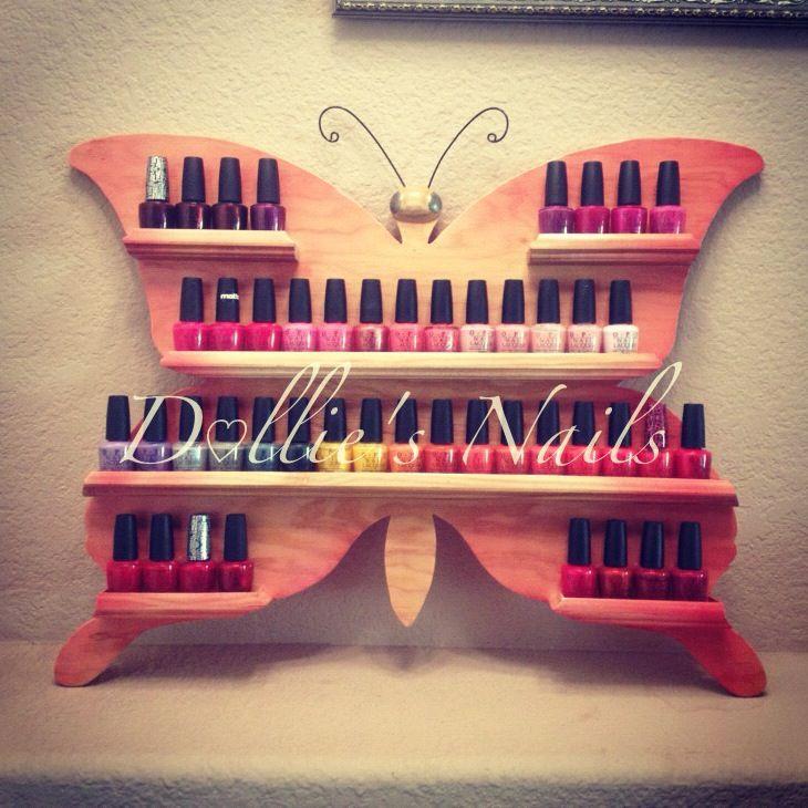 Nail Art Storage Ideas: Photographs Fingernail Polish Holder - 325walpassa