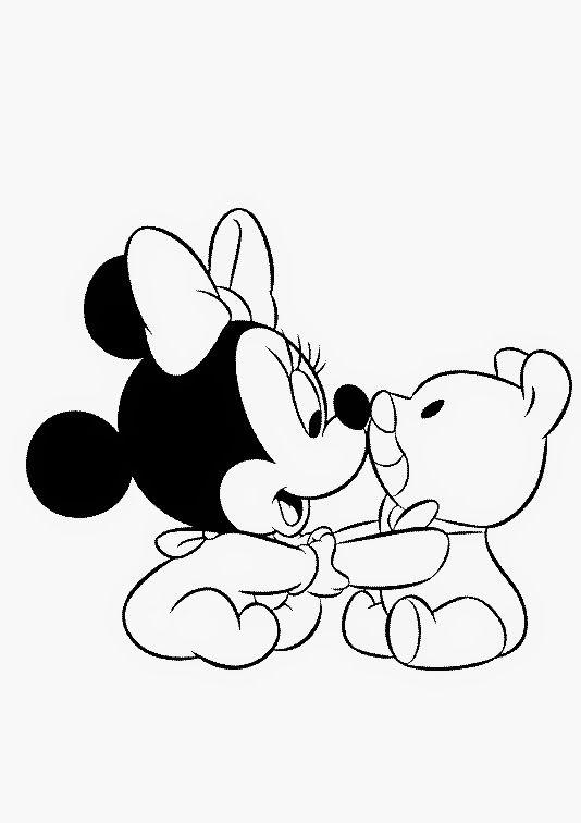 Cris Mandarini: Riscos da Minie e Mickey baby | роспись | Pinterest