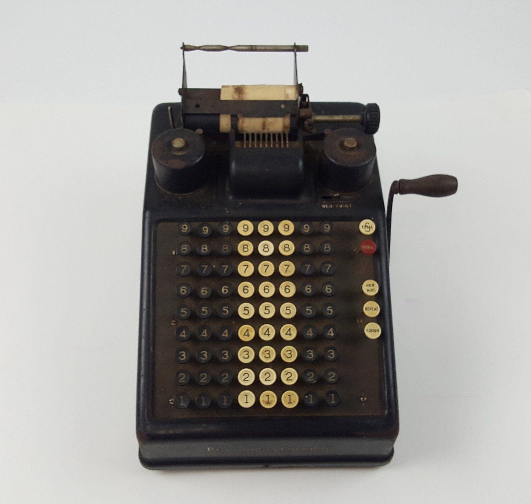 BURROUGHS PORTABLE 1920s Adding Machine precalculator