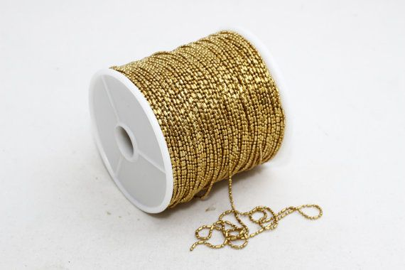 436489b8ed166 10 Meters - 33 Feet , Raw Brass Ball Chains 1,2mm Faceted Ball ...