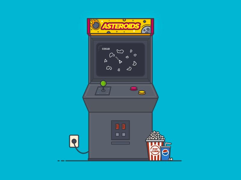 Asteroids Retro Arcade Machine Retro Arcade Machine Retro Arcade Arcade Machine