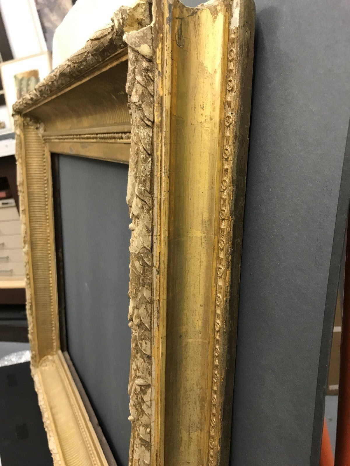 """Th century landscape painting frame. Molding is 4 ¾"""" wide, sight ..."""