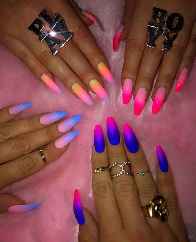 Pinterest: COCO NAWT | Glow nails, Nail art ombre, Cute ...
