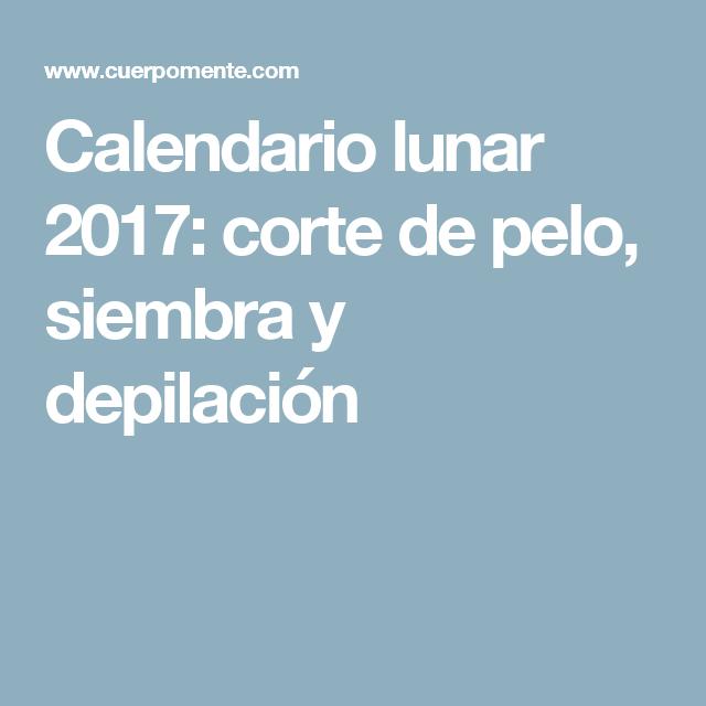 Calendario corte de cabello 2017