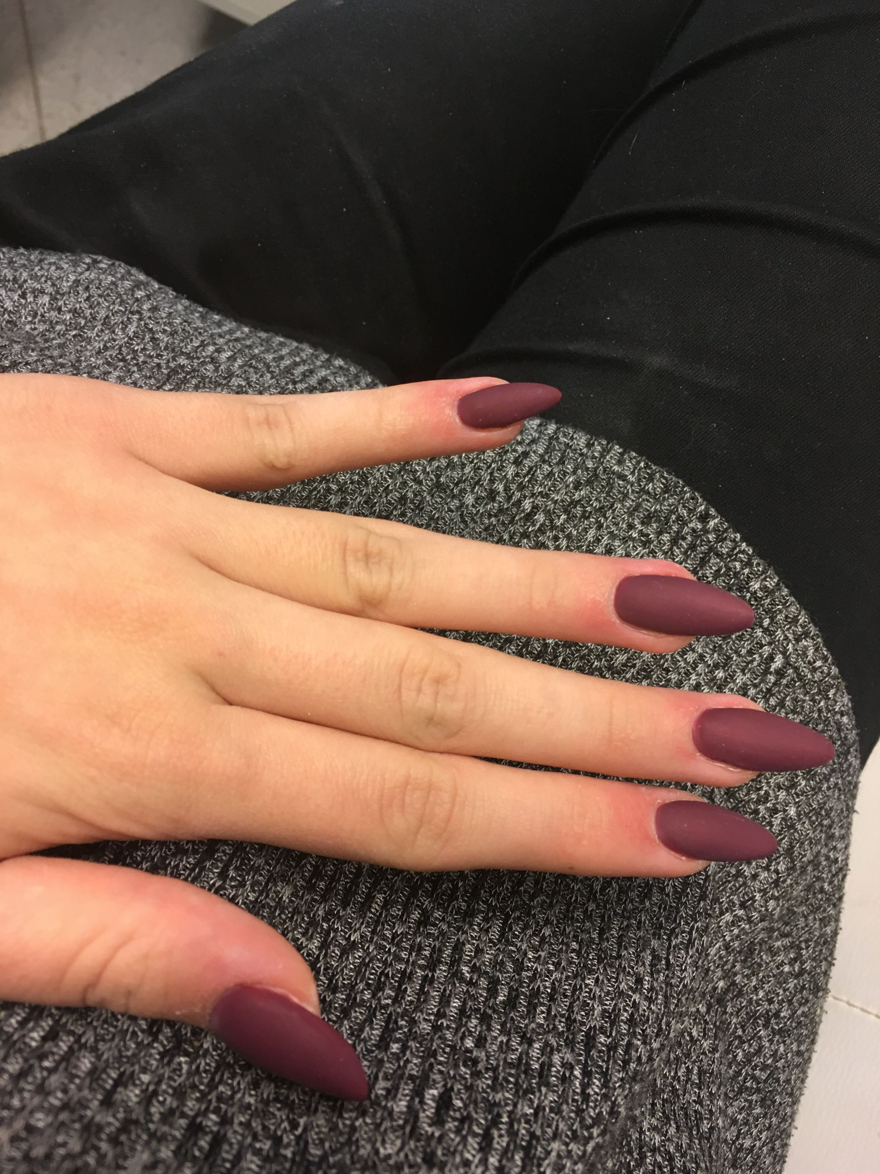 Nails Paznokcie Bordowe 2017 Manicure Pinterest Nails Nail