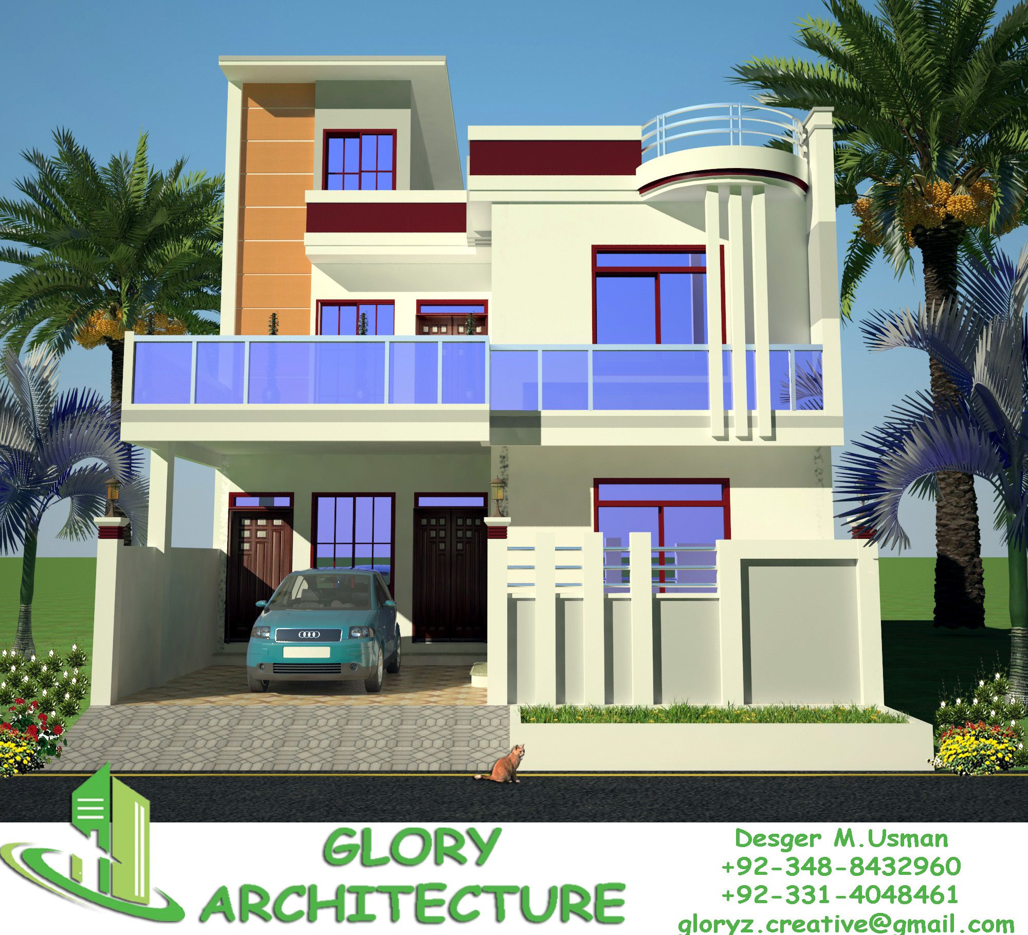 25x30 House Plan Elevation 3d View 3d Elevation House Elevation Small House Elevation Design Duplex House Design 2bhk House Plan