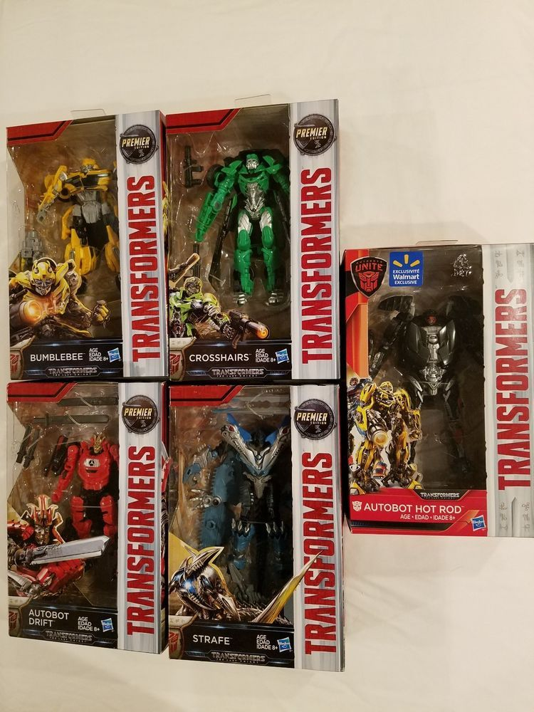 Transformers The Last Knight Lot Bumblebee Crosshairs Drift Strafe Hot Rod Bonus