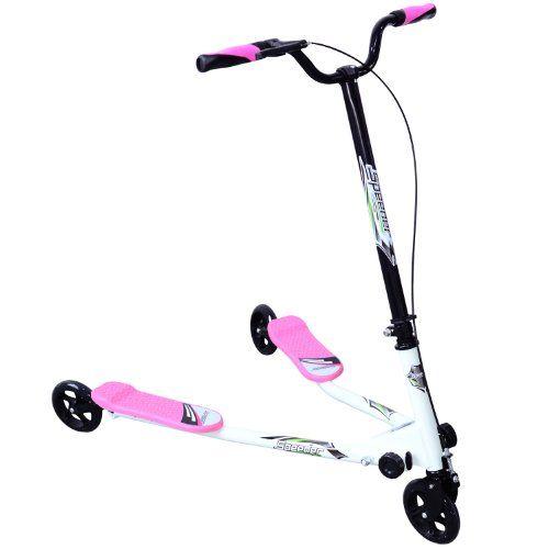 Kids 3 Wheels Speeder Scooter Tri Slider Winged Push Motion Children Adjustable