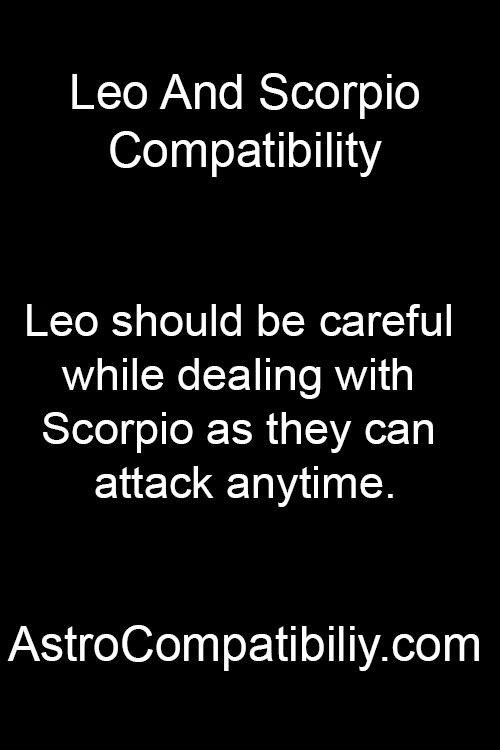 Scorpio male leo female
