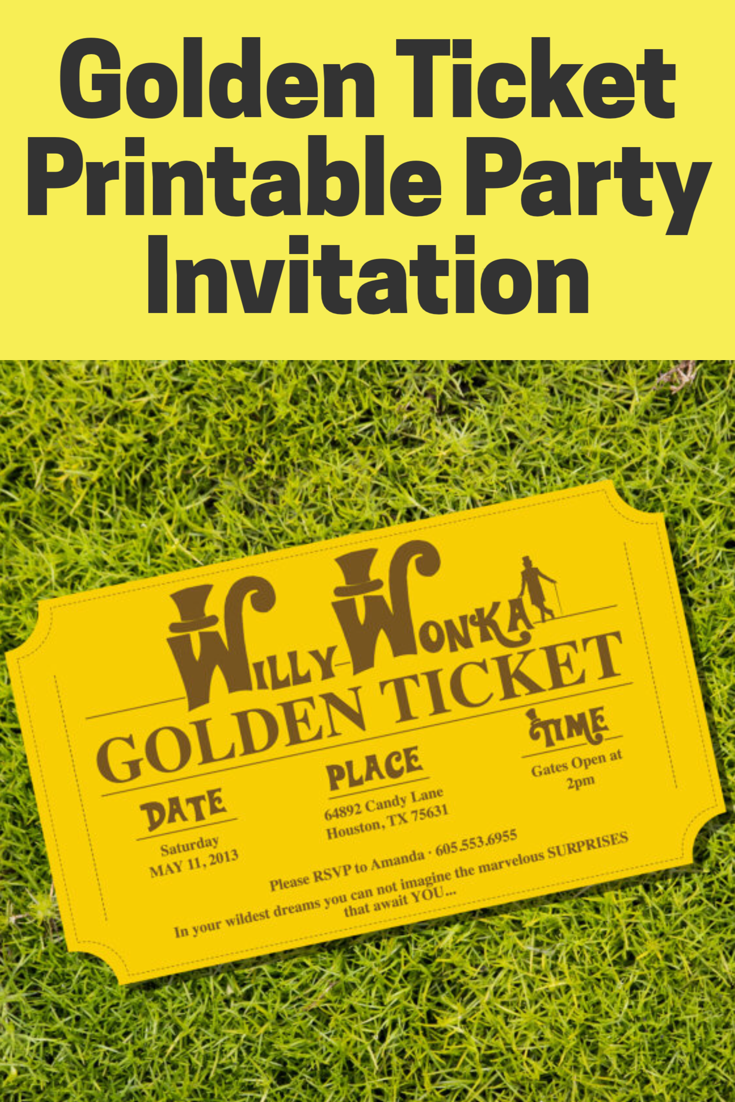 I found Willy Wonka\'s Golden Ticket and now I can invite all my ...