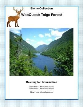 Taiga Forest Webquest Webquest Ccss Grassland Biome
