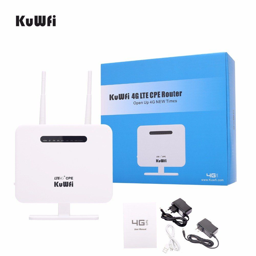 KuWFi Unlocked 4G LTE Wireless CPE Mobile Router With LAN