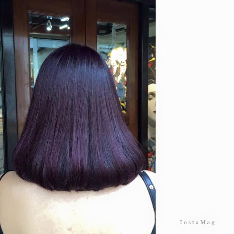 Purple No Bleaching Hair Colour 1 Bleached Hair Hair Color Trendy Hair Color