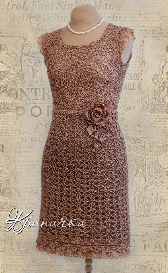 9bd9d345a21d Lindos vestidos em croche tirados da net Vestido em Croche Irlandês ...