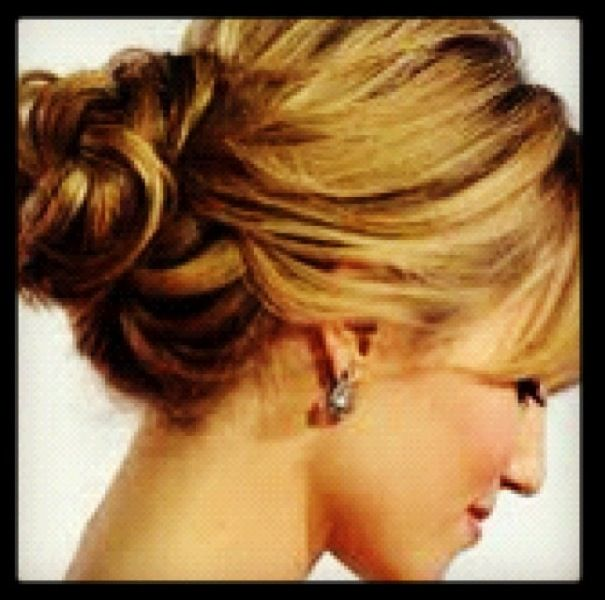Wedding hair updo knotted