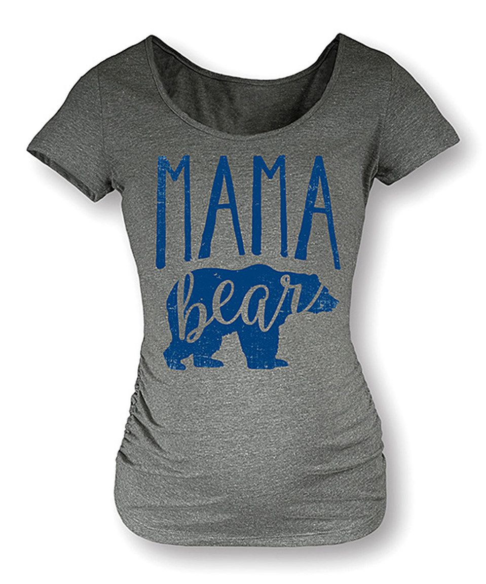 Another great find on #zulily! Athletic Heather 'Mama Bear' Maternity Scoop Neck Tee by It's Just Me #zulilyfinds