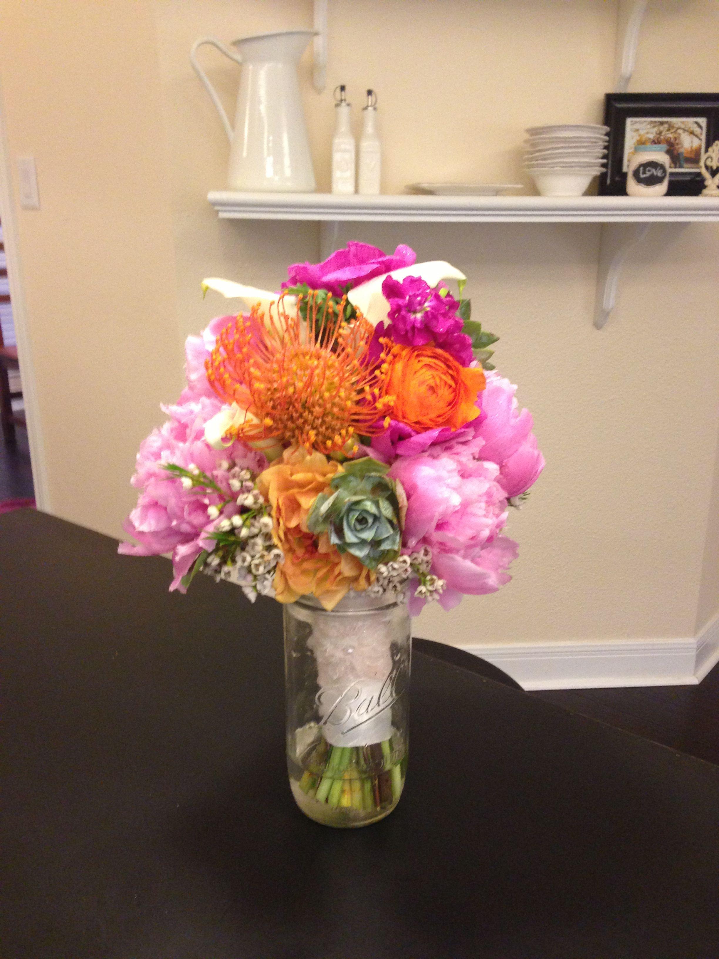 Peonies,ranunculus,protea,dahlias,wax flower, calla lilies....=gorgeous