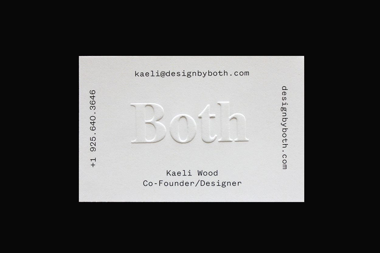 Blind embossed business card by sam wood for both business cards blind embossed business card by sam wood for both embossed business cardsprint finishesprinter reheart Choice Image