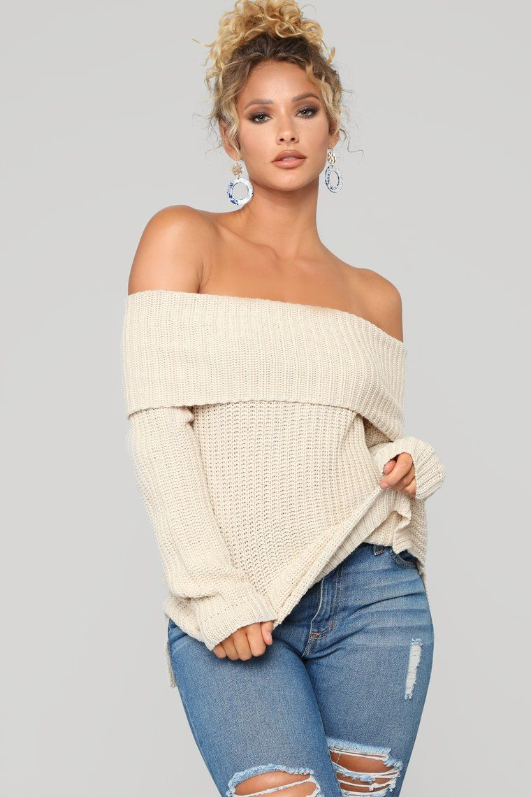 380a851bd34 Jane Off Shoulder Sweater - Oatmeal