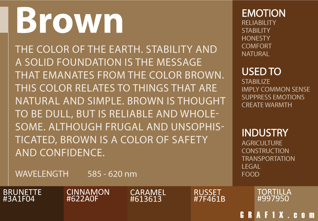 brown color meaning symbol colors emotions color