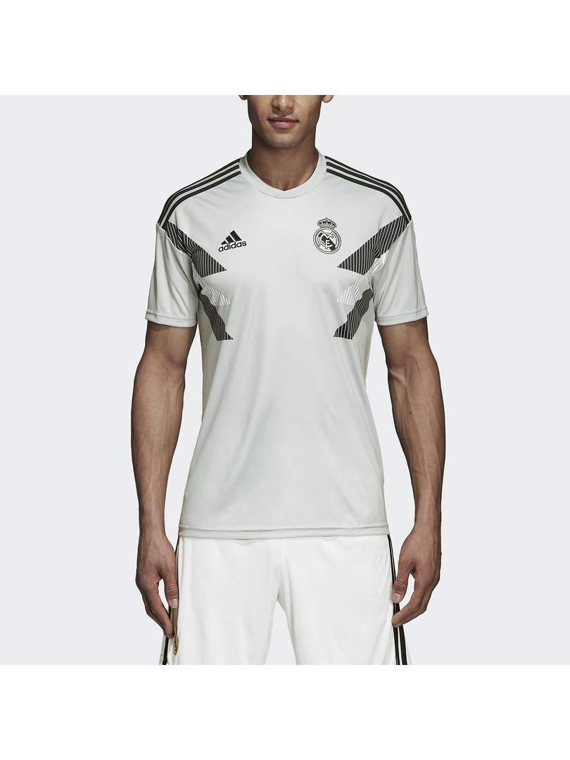 f72f26ab8 Real Madrid T-shirt 2019 - adidas 2018-2019 Real Madrid Pre-Match Training  Football Soccer T-Shirt Jersey (Grey)