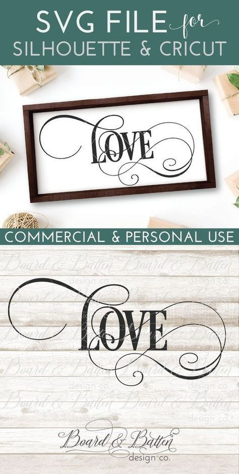 Single Word Love SVG File - WS5