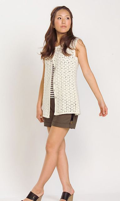 28 6 Sleeveless Cardigan Vest Pattern By Pierrot Gosyo Co Ltd