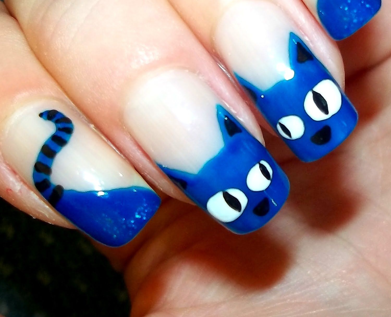 Cat Nail Art   Nail Art   Pinterest   Cat nails, Cat nail designs ...