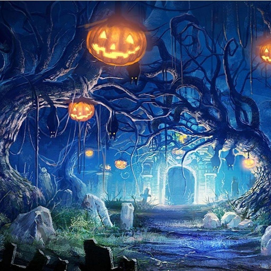 Halloween Mystery Night Landscape Ipad Wallpaper Download Iphone Wallpapers Ipad Wallp Halloween Backdrop Studio Backdrops Backgrounds Backdrops Backgrounds