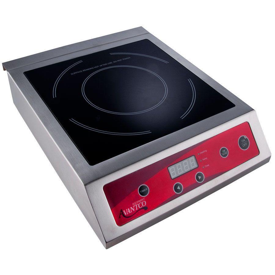 Avantco Ic3500 Countertop Induction Range Cooker 208 240v 3500w